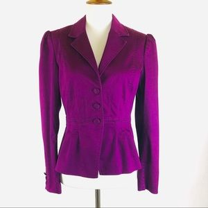H&M purple cropped peplum jacket